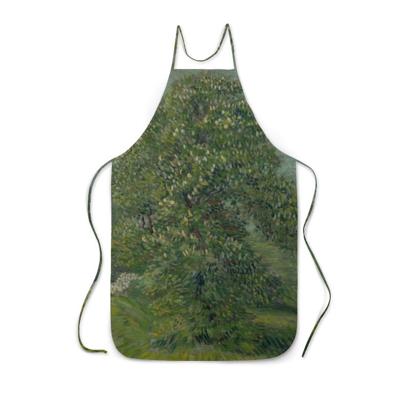 Фартук с полной запечаткой Printio Каштан в цвету (винсент ван гог) рюкзак мешок с полной запечаткой printio персиковое дерево в цвету ван гог