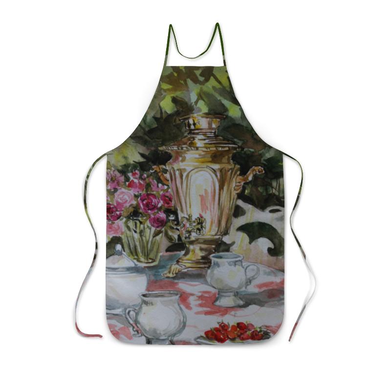 Фартук с полной запечаткой Printio Августовский чай с клубникой прикольный фартук мой бог
