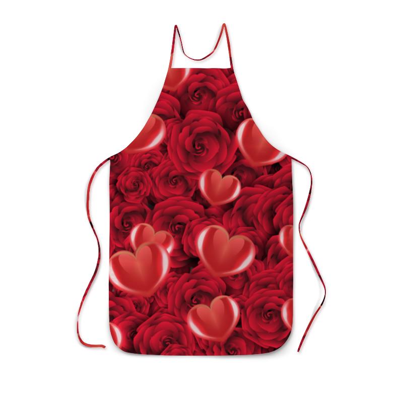 Фартук с полной запечаткой Printio Сердечки и розы сумка с полной запечаткой printio сердечки и розы