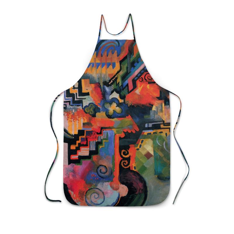 Фартук с полной запечаткой Printio Цветовая композиция (август маке) футболка с полной запечаткой женская printio парусник в тегернзее август маке
