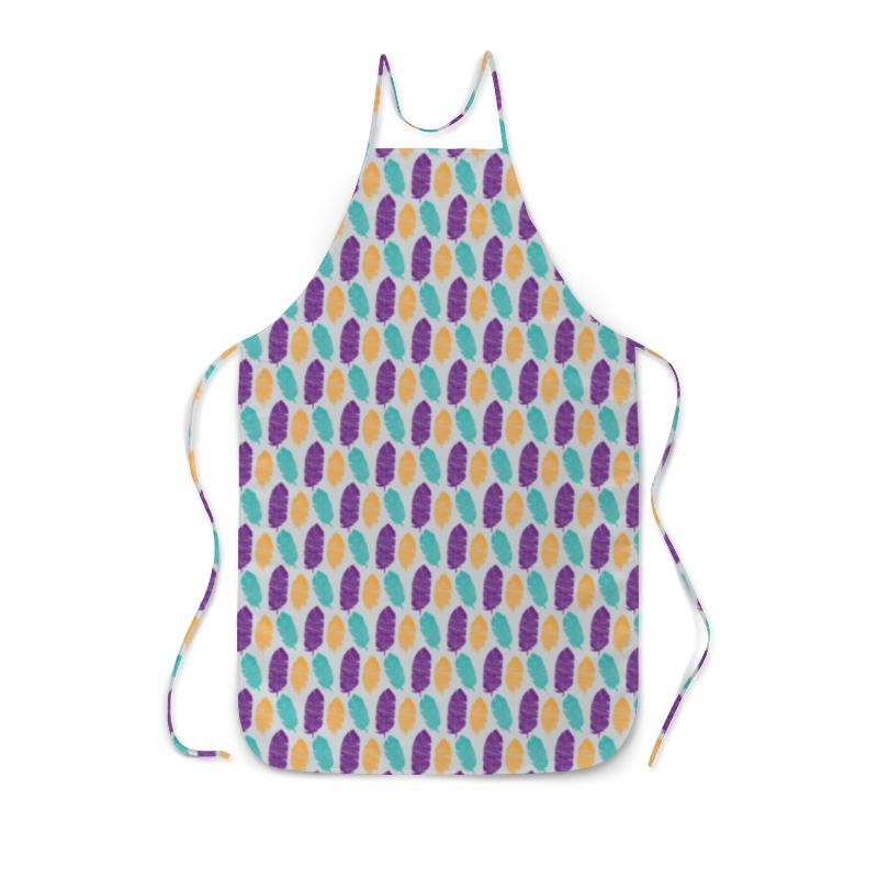 все цены на Фартук с полной запечаткой Printio Разноцветные перья онлайн