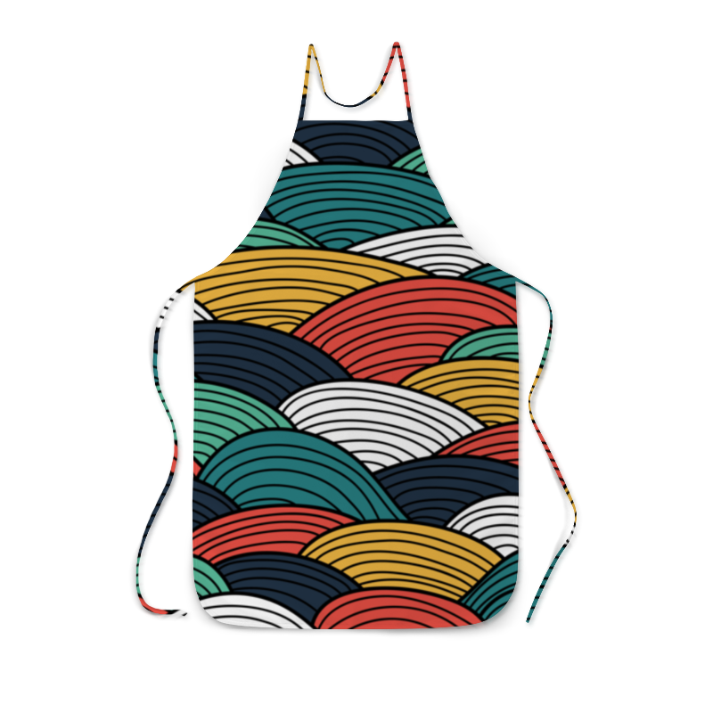 Фартук с полной запечаткой Printio Цветные волны