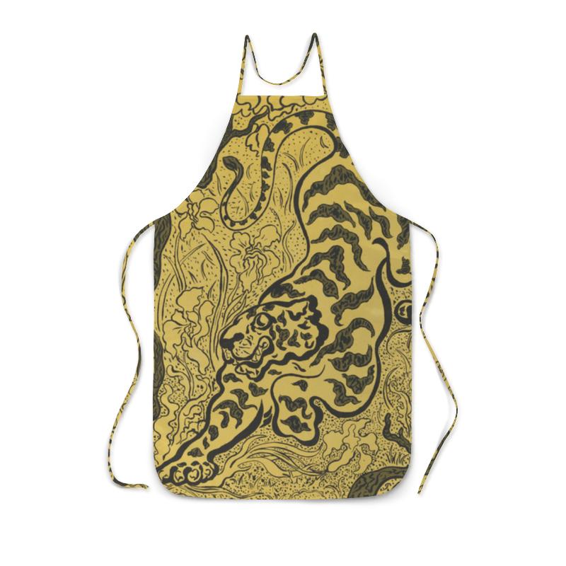 Фартук с полной запечаткой Printio Тигр в джунглях (поль-элье рансон)