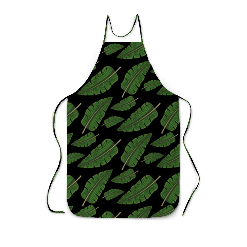 лучшая цена Фартук с полной запечаткой Printio Тропические листья