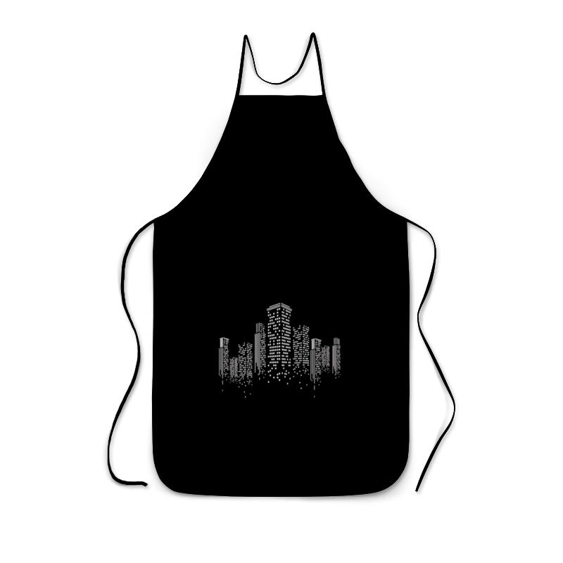Фартук с полной запечаткой Printio Огни ночного города. марина городничева восьмая луна сказки ночного города