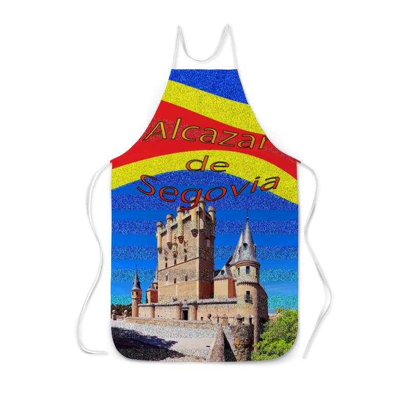Фартук с полной запечаткой Printio Замки испании. замок сеговия.