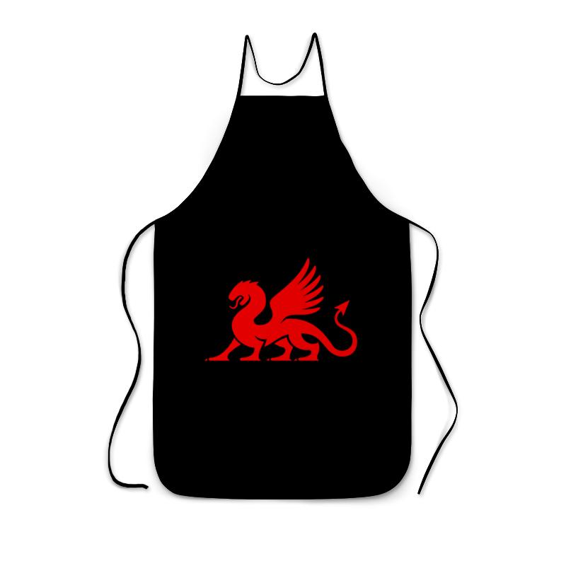цена Фартук с полной запечаткой Printio Красный дракон