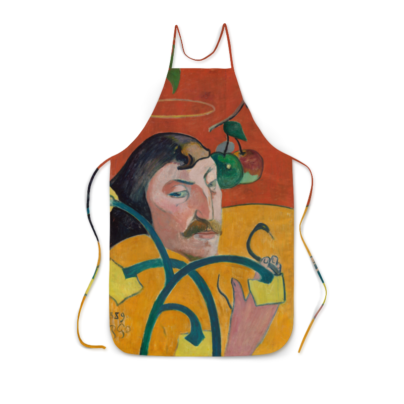 Фартук с полной запечаткой Printio Автопортрет-гротеск, поль гоген рюкзак с полной запечаткой printio женщина держащая плод поль гоген