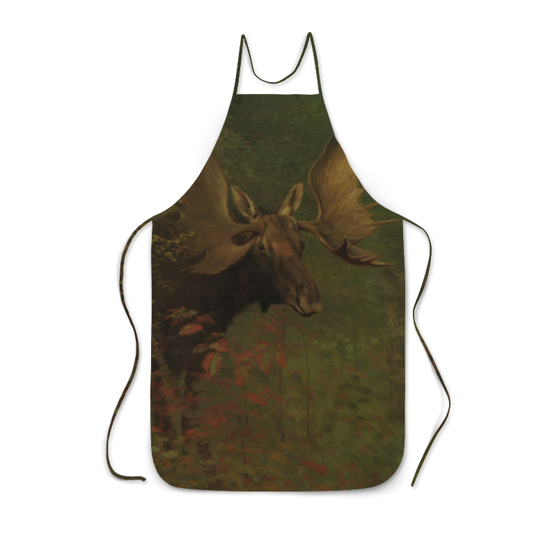 Фартук с полной запечаткой Printio Лось (study of a moose) (альберт бирштадт) людмила жукова альберт бирштадт