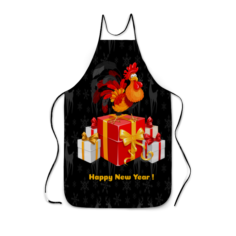 Printio Новый год 2017 фартук с полной запечаткой printio новый год