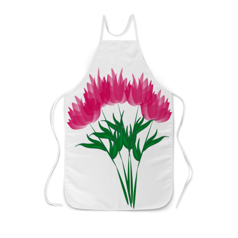 Фартук с полной запечаткой Printio Розовые абстрактные цветы невидимка для волос funny bunny розовые цветы 2 шт