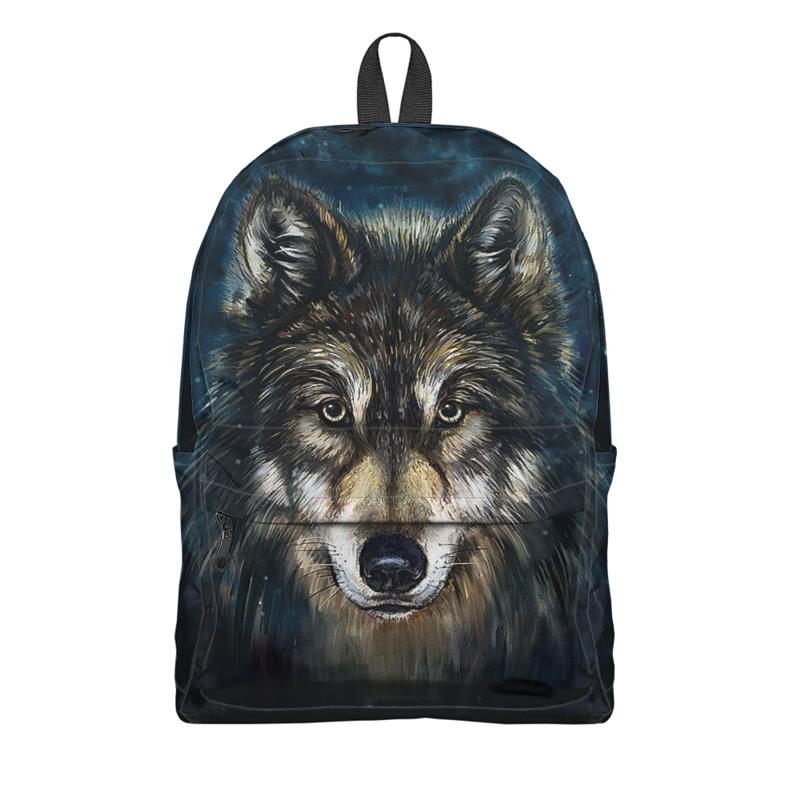 Рюкзак 3D Printio Волки фэнтези. седой волк