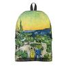"""Рюкзак 3D """"Пейзаж с прогуливающейся парой и полумесяцем"""" - картина, ван гог, живопись"""
