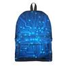 """Рюкзак 3D """"Полупроводник"""" - в школу, плата, микросхема"""
