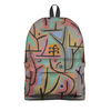 """Рюкзак 3D """"Парк возле Лю (Пауль Клее)"""" - картина, живопись, клее"""