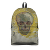 "Рюкзак 3D ""Череп II (Винсент ван Гог)"" - череп, картина, ван гог, живопись"
