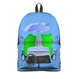 """Рюкзак 3D """"Дорога к облакам или путешествие к мечте"""" - цель, путешествие, дорога к облакам, путь к мечте, вперед и вверх"""