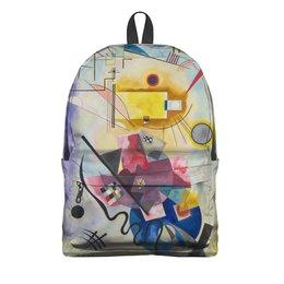 """Рюкзак 3D """"Желтый, красный, синий (Василий Кандинский)"""" - картина, живопись, абстракционизм, кандинский, синий всадник"""