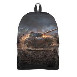 "Рюкзак 3D ""Танки"" - 23 февраля, война, world of tanks, компьютерная игра, танки"