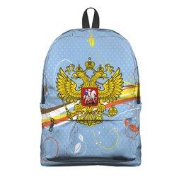 """Рюкзак 3D """"Россия"""" - цветы, россия, герб, орел, хохлома"""