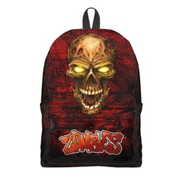 """Рюкзак 3D """"Zombie Skull"""" - череп, зомби, ужастик, мужчине, киноманам"""
