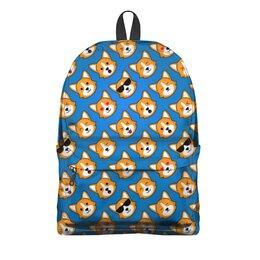 """Рюкзак 3D """"CorgiFace"""" - домашние животные, собаки, школа, корги, собачникам"""