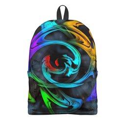 "Рюкзак 3D ""Узор красок"" - цветы, космос, пятна, краски, абстракция"