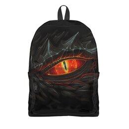 """Рюкзак 3D """"ГЛАЗ ДРАКОНА"""" - животные, красные глаза, черный-красный, стиль эксклюзив креатив красота яркость, арт фэнтези"""