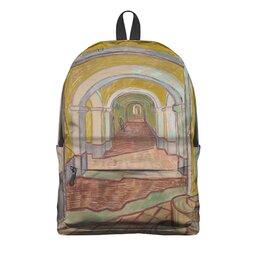 "Рюкзак 3D ""Коридор убежища Святого Павла в Сен-Реми"" - картина, ван гог, живопись"