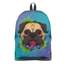 "Рюкзак 3D ""Мопсик"" - dog, собака, мопс, staciart"