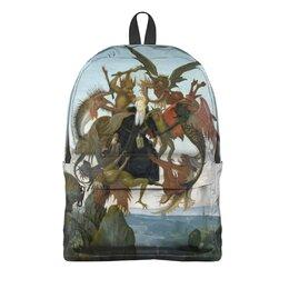 """Рюкзак 3D """"Мучения святого Антония (Микеланджело)"""" - картина, живопись, микеланджело"""