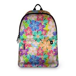 """Рюкзак 3D """"Floral Design"""" - цветы, растения, цветочный, арт дизайн, модникам"""