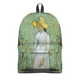 "Рюкзак 3D ""Девушка в белом (Винсент Ван Гог)"" - картина, ван гог, живопись"
