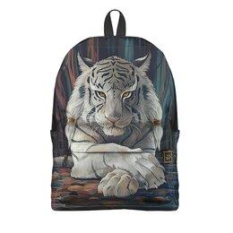 """Рюкзак 3D """"ТИГРЫ ФЭНТЕЗИ. белый тигр"""" - хищник, животные, стиль, магия, арт фэнтези"""