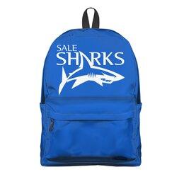 """Рюкзак 3D """"Сейл Шаркс регби"""" - спорт, регби, англия, акула"""