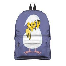 """Рюкзак 3D """"желтый новорожденный цыпленок"""" - животные, птицы, день рождения, иллюстрация, новая жизнь"""