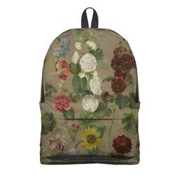 """Рюкзак 3D """"Цветы (картина Эжена Делакруа)"""" - цветы, картина, живопись, делакруа, романтизм"""