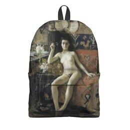 """Рюкзак 3D """"Без маски (Аксели Галлен-Каллела)"""" - картина, реализм, живопись, ню, галлен-каллела"""