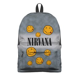 "Рюкзак 3D ""Nirvana"" - музыка, nirvana, kurt cobain, курт кобейн, нирвана"