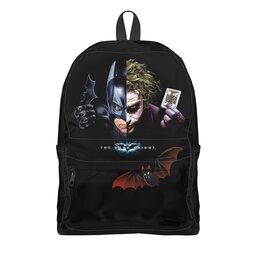 """Рюкзак 3D """"Бэтмен Джокер BATMAN  JOKER"""" - комиксы, маска, игральные карты, летучая мышь, арт фэнтези"""