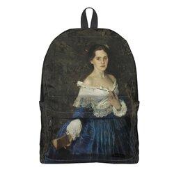 "Рюкзак 3D ""Дама в голубом (картина Сомова)"" - картина, портрет, живопись, модерн, сомов"
