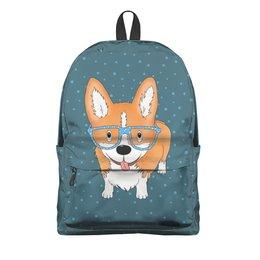 """Рюкзак 3D """"Корги в очках"""" - собаки, корги, милый корги"""