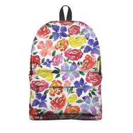 "Рюкзак 3D ""цветочки"" - лето, цветы, узор, природа, цветочки"