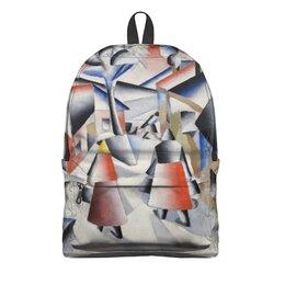 """Рюкзак 3D """"Утро после вьюги в деревне (Малевич)"""" - картина, живопись, малевич, кубизм, модерн"""
