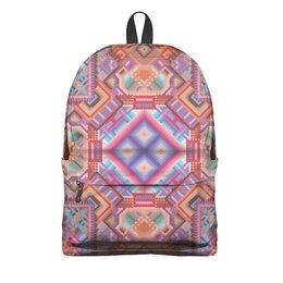 """Рюкзак 3D """" с абстрактным рисунком"""" - узор, фиолетовый, абстракция, фигуры, текстура"""