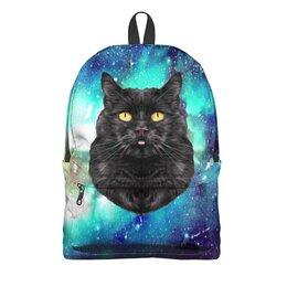 """Рюкзак 3D """"Кот в космосе"""" - кот, звезды, котенок, космос, коты в космосе"""