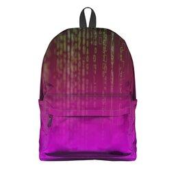 """Рюкзак 3D """"Матрица"""" - компьютеры, матрица, код, программа, пароль"""