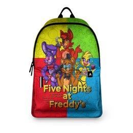 """Рюкзак 3D """"Five Nights at Freddy's"""" - мультфильмы, игрушки, куклы, пять ночей у фредди, игроманам"""