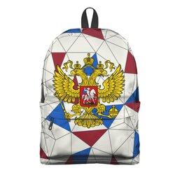 "Рюкзак 3D ""Без названия"" - русский, россия, герб, орел, флаг"