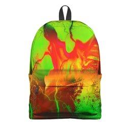 """Рюкзак 3D """"Пятна краски"""" - узор, космос, пятна, краски, абстракция"""